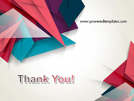 Abstract Origami PowerPoint Template Slide 20