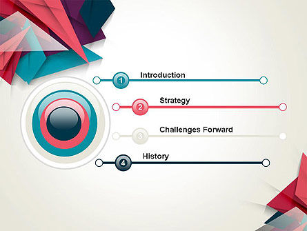 Abstract Origami PowerPoint Template Slide 3