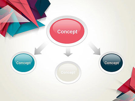 Abstract Origami PowerPoint Template Slide 4