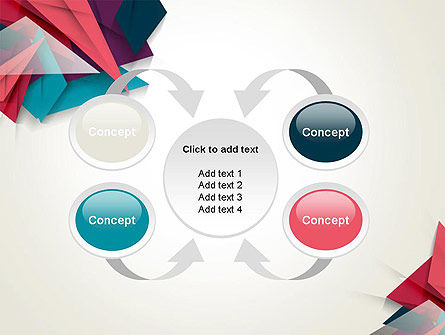 Abstract Origami PowerPoint Template Slide 6