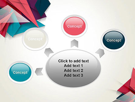 Abstract Origami PowerPoint Template Slide 7