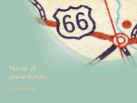 Route 66 PowerPoint Template, 12543, Cars and Transportation — PoweredTemplate.com