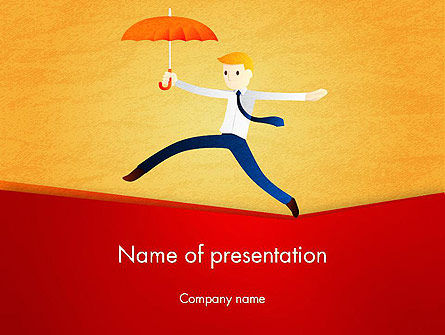 Balancing on the Rope PowerPoint Template, 12544, Business Concepts — PoweredTemplate.com