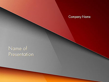 Abstract Solid Layers PowerPoint Template
