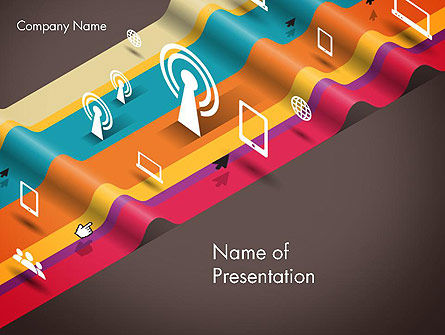Telecommunication: Data Transmission Concept PowerPoint Template #12548