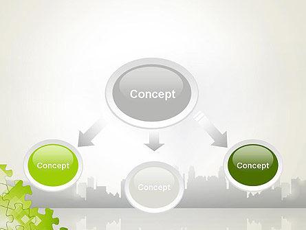 Puzzle Pieces on City Background PowerPoint Template, Slide 4, 12552, Business Concepts — PoweredTemplate.com