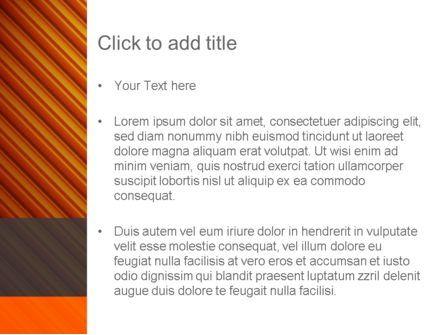 Diagonal Orange Stripes PowerPoint Template, Slide 3, 12554, Abstract/Textures — PoweredTemplate.com