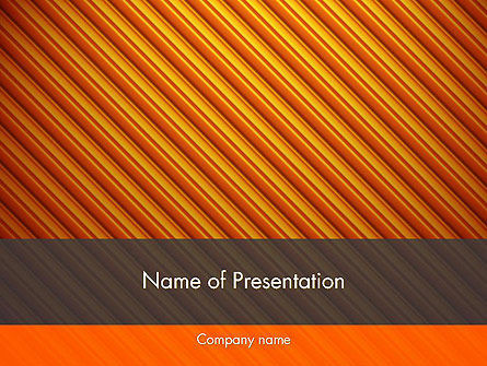 Abstract/Textures: Diagonal Orange Stripes PowerPoint Template #12554