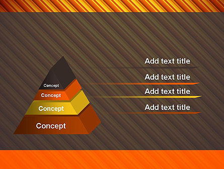 Diagonal Orange Stripes PowerPoint Template Slide 12