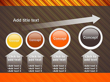 Diagonal Orange Stripes PowerPoint Template Slide 13
