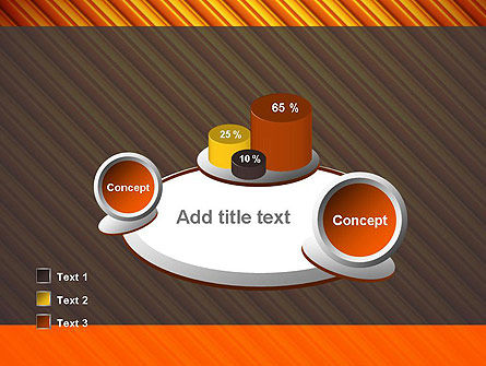 Diagonal Orange Stripes PowerPoint Template Slide 16