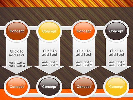 Diagonal Orange Stripes PowerPoint Template Slide 18