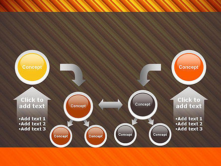 Diagonal Orange Stripes PowerPoint Template Slide 19