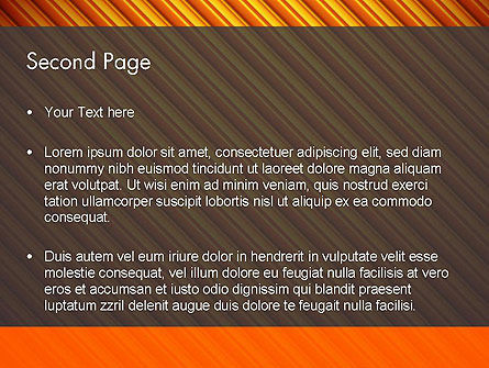 Diagonal Orange Stripes PowerPoint Template, Slide 2, 12554, Abstract/Textures — PoweredTemplate.com