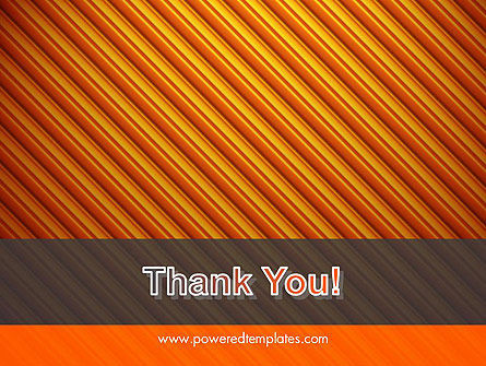 Diagonal Orange Stripes PowerPoint Template Slide 20