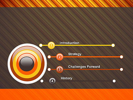 Diagonal Orange Stripes PowerPoint Template, Slide 3, 12554, Abstract/Textures — PoweredTemplate.com