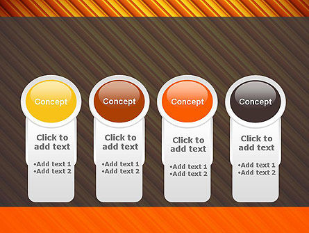 Diagonal Orange Stripes PowerPoint Template Slide 5