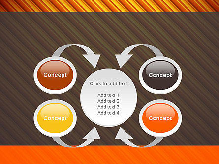 Diagonal Orange Stripes PowerPoint Template Slide 6