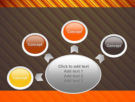 Diagonal Orange Stripes PowerPoint Template Slide 7