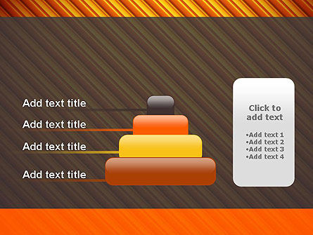 Diagonal Orange Stripes PowerPoint Template Slide 8
