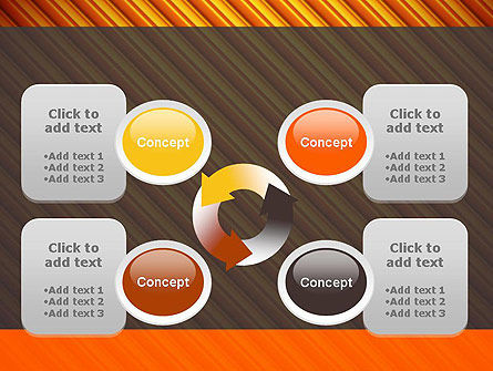 Diagonal Orange Stripes PowerPoint Template Slide 9