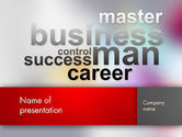 Business Concepts: Control Success Career PowerPoint Template #12556