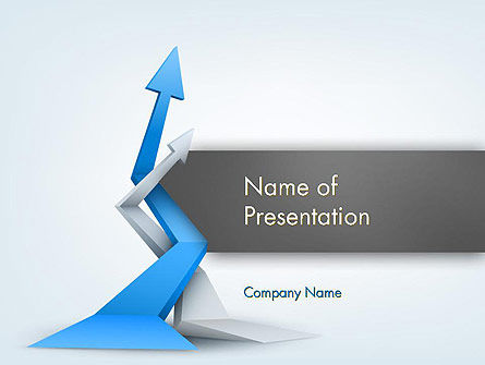 Intertwining Up Arrows PowerPoint Template, 12557, Business — PoweredTemplate.com