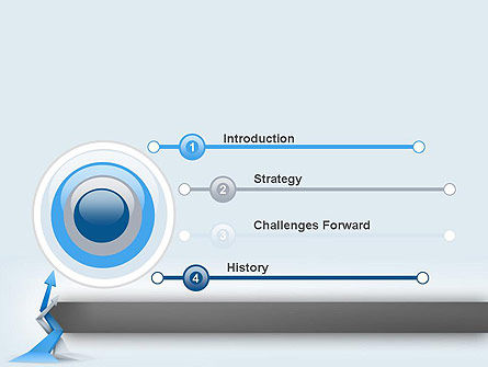 Intertwining Up Arrows PowerPoint Template, Slide 3, 12557, Business — PoweredTemplate.com
