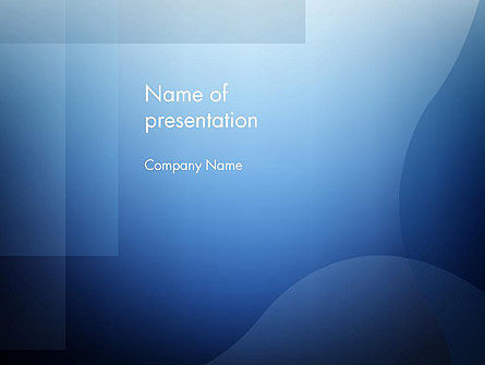 Blue Transparent Layers PowerPoint Template, 12560, Abstract/Textures — PoweredTemplate.com