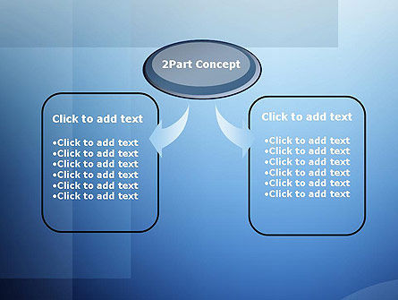 Blue Transparent Layers PowerPoint Template Slide 4