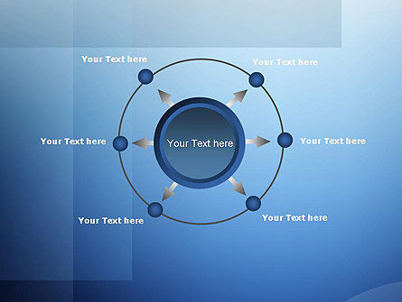 Blue Transparent Layers PowerPoint Template Slide 7