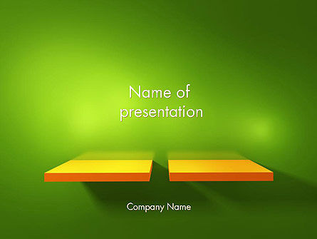 Yellow Boards on Green Wall PowerPoint Template