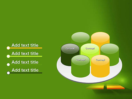 Yellow Boards on Green Wall PowerPoint Template Slide 12