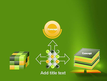 Yellow Boards on Green Wall PowerPoint Template Slide 19