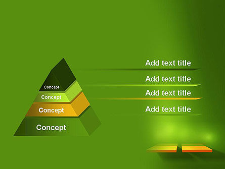 Yellow Boards on Green Wall PowerPoint Template Slide 4
