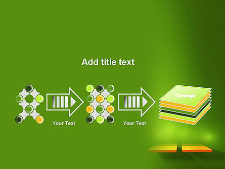 Yellow Boards on Green Wall PowerPoint Template Slide 9
