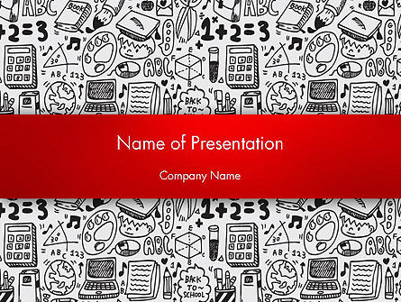 Education & Training: Education and Science Doodles PowerPoint Template #12563