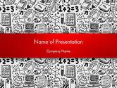 Education & Training: Modèle PowerPoint de l'éducation et la science font des doodles #12563