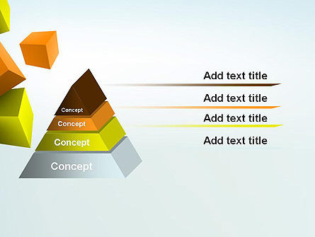 Three-Dimensional Geometric PowerPoint Template Slide 12