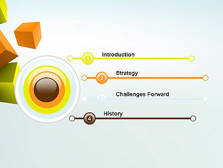 Three-Dimensional Geometric PowerPoint Template Slide 3