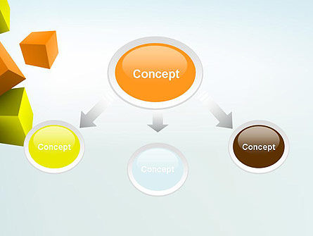Three-Dimensional Geometric PowerPoint Template Slide 4