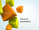 Abstract/Textures: Three-Dimensional Geometric PowerPoint Template #12565