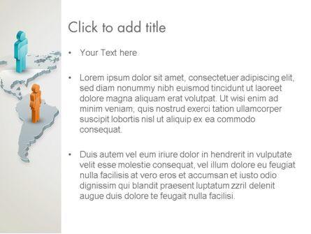 Stickman Standing on World Map PowerPoint Template, Slide 3, 12566, Business — PoweredTemplate.com