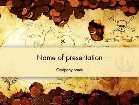 Global: Pirate Treasure Map PowerPoint Template #12567