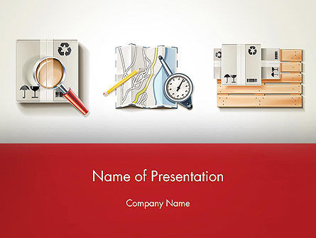 Packaging and Delivering PowerPoint Template, 12570, Careers/Industry — PoweredTemplate.com