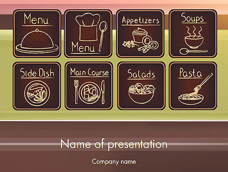 Restaurant Menu PowerPoint Template, 12571, Food & Beverage — PoweredTemplate.com
