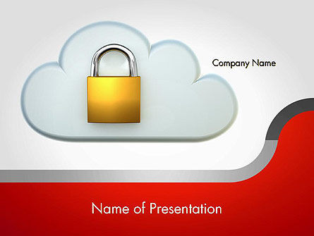 Protected Cloud Data PowerPoint Template