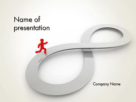 Infinity Run PowerPoint Template, 12574, Business Concepts — PoweredTemplate.com