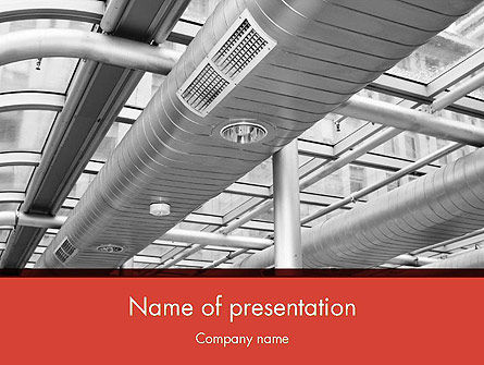 Careers/Industry: Air Conditioning PowerPoint Template #12576