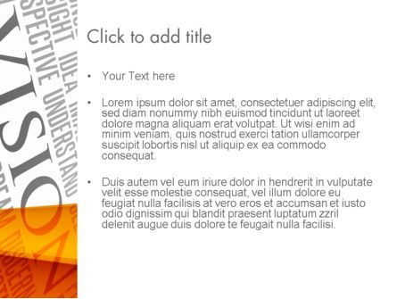 Vision Plan PowerPoint Template, Slide 3, 12577, Business Concepts — PoweredTemplate.com